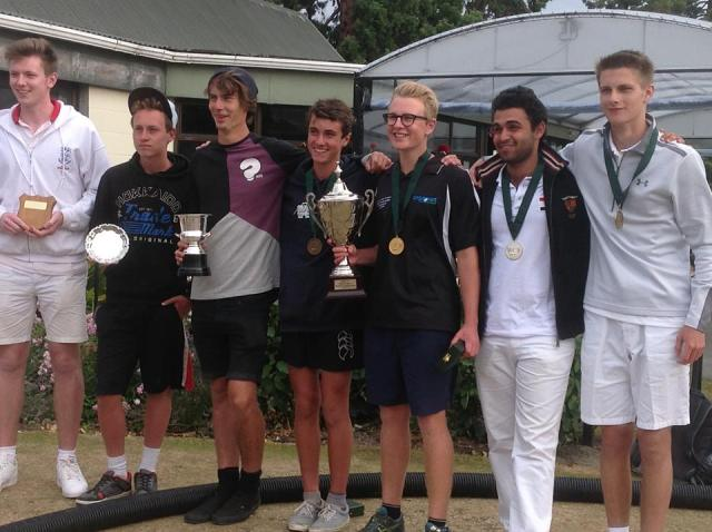 Josh Freeth (3rd from right), Marwan El Sabarouti (2nd from right), Felix Webby, Harry Dodge, Logan McCorkingdale, Lachlan Hughes and John-Paul Moberly